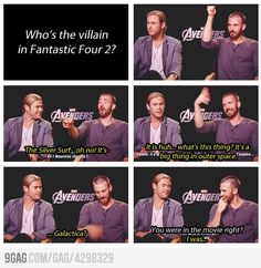 Lol, Chris Evans doesn't know anything about his own movie. And Chris Hemsworth's remark!