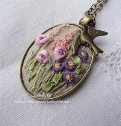 Wonderful Ribbon Embroidery Flowers by Hand Ideas. Enchanting Ribbon Embroidery Flowers by Hand Ideas. Embroidery Designs, Ribbon Embroidery Tutorial, Silk Ribbon Embroidery, Embroidery Jewelry, Crewel Embroidery, Hand Embroidery Patterns, White Embroidery, Embroidery Kits, Embroidery Supplies