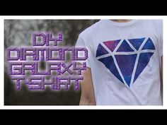 DIY Diamond Galaxy T-Shirt! - YouTube