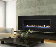 Love this look.  On the house wish list for sure.  Heat & Glo RED Series Gas Fireplace