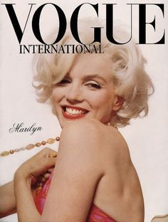 Marilyn Monroe on the cover on the cover of Vogue International
