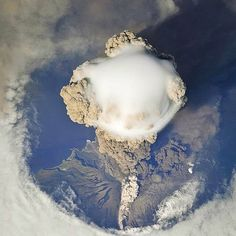 Spectacular view of Sarychev Peak Volcano erupting Russia. Photo - International Space Station (@iss) Also Follow  @TheBeautyOfThailand #OurLonelyPlanet #Russia Hotels-live.com via https://instagram.com/p/7DUUrnxtMf/