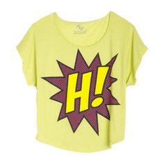 H! Comic Tee ($3.99) ❤ liked on Polyvore featuring tops, t-shirts, shirts, hauts, graphic tees, comic book t shirts, comic book, comic t shirts and cartoon shirt