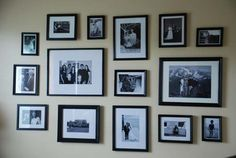 another step by step guide for a wall gallery
