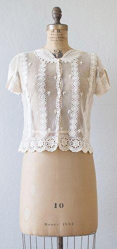 vintage 1970s lace crochet top   #vintage #1970s #crochet