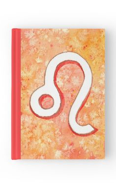 """Zodiac sign : Leo"" Hardcover Journal by Savousepate on Redbubble #hardcoverjournal #journal #notebook #stationery #astrology #astrologicalsign #zodiacsign #leo #red #orange #white #watercolorpainting"