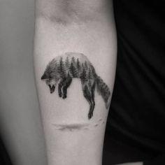 Fox jump tattoo