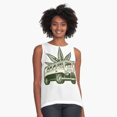New T Shirt Design, Shirt Designs, Cannabis, Tank Man, Chiffon, Printed, Tank Tops, Awesome, Fabric
