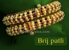 pearl bangles traditional maharashtrian jewellery designs collection