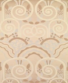 Brunschwig & Fils France Art Deco Upholstery Fabric Legato Cream