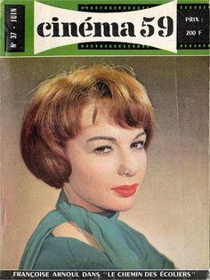 cinéma 59, June 1959, (Françoise Arnoul in Le Chemin des écoliers) Cover
