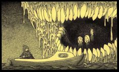 Edward Gorey is one of my favorite artists. What if he had illustrated Lovecraft's stories or created artwork with Lovecraftian themes? The art of John Kenn Mortensen might be the result.