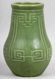 "A RARE 1903 Rookwood Arts Crafts Mission Green Z Line 9 5""T Art Pottery Vase | eBay"