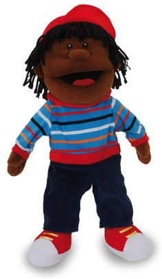 The boy hand puppet is a beautifully designed quality fabric hand puppet that comes with mouth moving features. Great for role playing, pretend play or bringing their own stories to life.