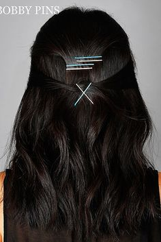 Or a geometric one: | 21 Bobby Pin Hairstyles You Can Do In Minutes