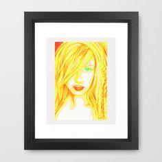 Femme Fetale Framed Art Print by Holly Picano - $40.00