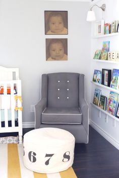 Library themed Nursery by Elle T.