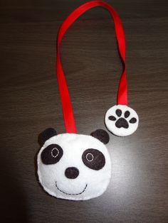 Marque -pages original panda en feutrine