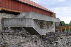Sverre Fehn - Hamar Bispegaard Museum, at Hamar, Norway, 1969 to 1973