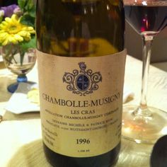 Chambokke-Musigny Les Cras 1996 photo-wata That year is wonderful year for wine. Champagne, French Wine, Vintage Wine, Pinot Noir, Fine Wine, Burgundy, Wine Lover, Bottle, Glass