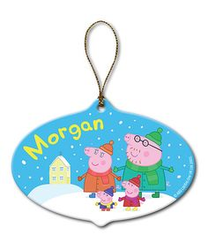 Look what I found on #zulily! Peppa Pig Family Personalized Ornament…