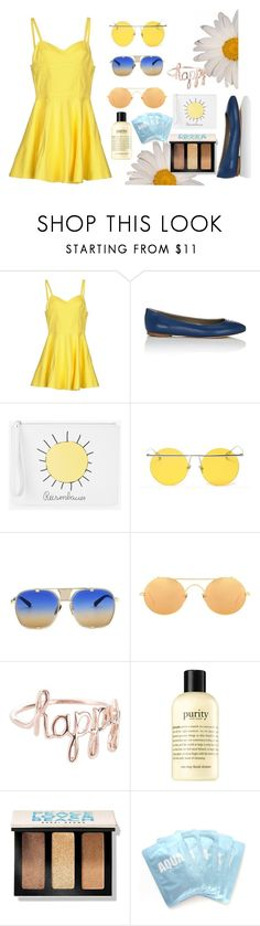 """""""Joy - inside out"""" by jacqkeni ❤ liked on Polyvore featuring Jeremy Scott, Anya Hindmarch, Christopher Kane, LMNT, Linda Farrow, philosophy, Bobbi Brown Cosmetics and Lapcos"""