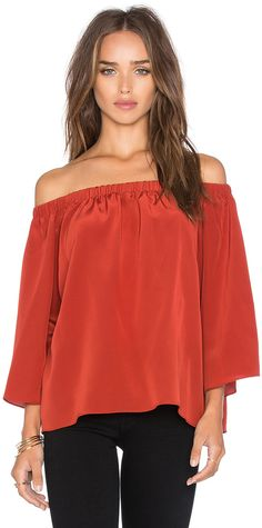 Amanda Uprichard Nirvana Off the Shoulder Top