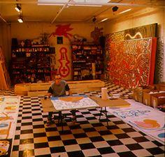 Keith Haring's studio