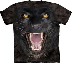 The Mountain - T-Shirts - Big Cats - Aggressive Panther - clothingmonster.com