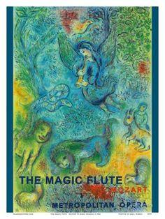 The Magic Flute - Mozart - Metropolitan Opera Posters by Marc Chagall at AllPosters.com