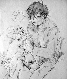 Beaten anime boy Guro