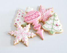 Christmas cookies in pink