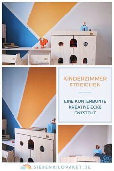 Attraktiv Wandgestaltung Im Kinderzimmer   Eine Kunterbunte, Kreative Ecke Für Den  Großen Jungen (Werbung