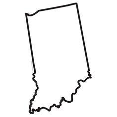 Indiana State Shape Chevron Outline Home Monogram SVG file