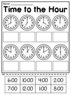 6 Math Worksheets for Kids Grade Time Worksheets for free Math Worksheet for Kids in First Grade Math Worksheets, Free Math Worksheets, 1st Grade Math, Printable Worksheets For Kids, Second Grade, Grade 2, Free Printables, Time To The Hour, Time Time