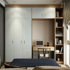 You still have options with your small bedroom. Get creative and have fun decorating. Small bedrooms can look amzing, be cozy and have storage. Bedroom Furniture Placement, Small Room Design Bedroom, Simple Bedroom Design, Bedroom Cupboard Designs, Bedroom Closet Design, Bedroom Furniture Design, Room Ideas Bedroom, Home Room Design, Very Small Bedroom