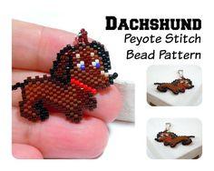 Dachshund   Beadweaving Patterns Peyote Stitch Dog by BeadCrumbs