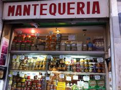 Lovely food shop selling Local produce in Granada (San Anton st) Spain
