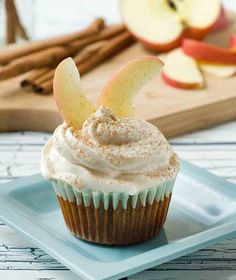 Gluten Free Sugar Free Cinnamon Apple Cupcakes
