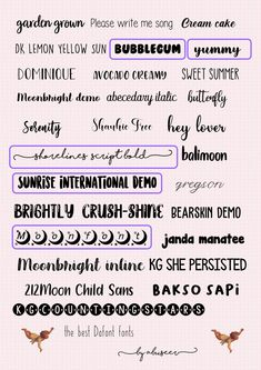 School Organization Notes, School Notes, Simbolos Para Nicks, Aesthetic Fonts, Font Packs, Cute Fonts, School Study Tips, Bullet Journal Ideas Pages, Study Notes