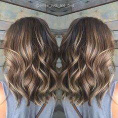 Balayage Hair Blonde Medium, Hair Color Balayage, Ash Brown Balayage, Medium Hair Cuts, Medium Hair Styles, Long Hair Styles, Pelo Natural, Shoulder Hair, Hair Lengths