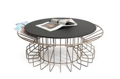 AMARANT COFFEE TABLE Magazine holding, coffee table  The Amarant coffee table is a marriage of a magazine holder with a side table. Inspired by blooming flowers these furniture designs present your most favourite magazines in an elegant way.  These tables feel right at home in a living room, lobby area, library or any waiting room. Making these spaces look colourful and fascinating.