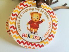 12 Daniel Tiger Birthday Party Favor Tags by sweetheartpartyshop