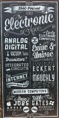 Electronic Age Chalk Art Sign by ArtFX Design Studios, via Flickr