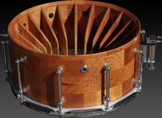 turbine snare drum. Not sure what the purpose of the fins in side is, but it looks awesome. :)