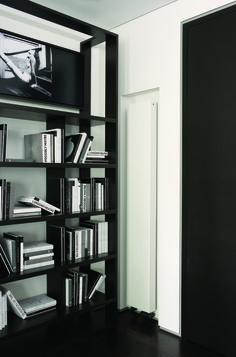 Outline Get Up radiator in RAL 9016 traffic white finish and with standard bottom end connections. Flat Panel Radiators, Vertical Radiators, Column Radiators, Bristol, Rustic Design, Modern Design, Spiral Stairs Design, Timber Stair, White Stairs