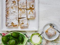 Feijoa crumble recipe - layers of delicious sweet pastry, feijoas, custard and crumble -combine to make an irresistible slice, perfect for an afternoon treat with a cup of tea Fejoa Recipes, Pastry Recipes, Tart Recipes, Fruit Recipes, Dessert Recipes, Cooking Recipes, Guava Recipes, Nectarine Recipes, Recipies