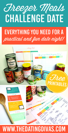 Practical, easy and fun challenge idea to turn meal prep into date night! www.TheDatingDivas.com