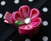 Kanzashi Flower Hair Bow Set. $10.00, via Etsy.