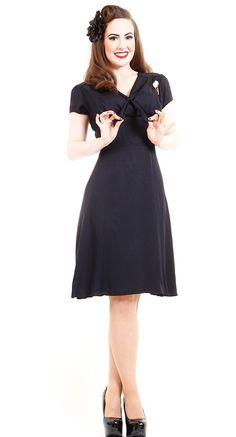 Queen of Heartz Divine Dress in Georgette Black | Blame Betty